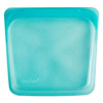 Stasher Reusable Storage Bag Aqua