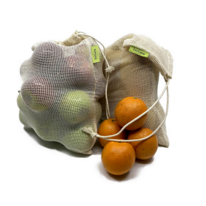 Tru Earth Reusable Cotton Mesh Produce Bag Set
