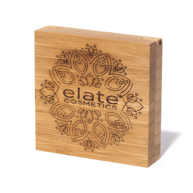 Elate Clean Cosmetics Bamboo Powder Compact