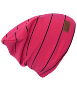 L&P Apparel Cotton Slouchy Beanie Magenta & Black