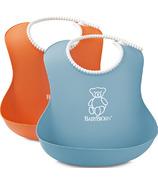 BabyBjorn Soft Bibs Orange & Turquoise