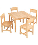 KidKraft Farmhouse Table & Chair Set Natural