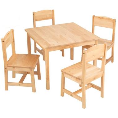 KidKraft Farmhouse Table & Chair Set Natural