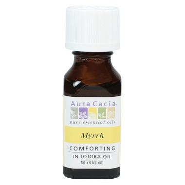 Aura Cacia Myrrh Essential Oil Blended with Jojoba Oil
