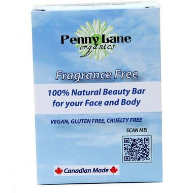 Penny Lane Organics 100% Natural Beauty Bar Fragrance Free