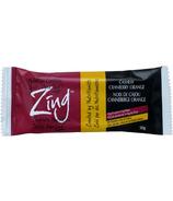 Zing Cashew Cranberry Orange Vegan Nutrition Bars