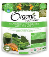 Organic Traditions Probiotic Super Greens with Turmeric