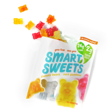 Smart Sweets Fruity Gummy Bears with Stevia