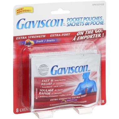 Gaviscon Extra Strength Pocket Pouches Fruit