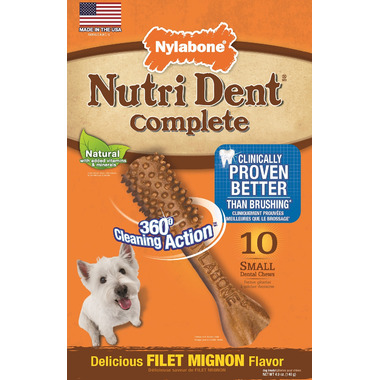 Nutri Dent Complete Dental Chews Filet Mignon Small Size 10 Pack