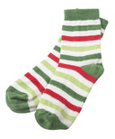Little Blue House by Hatley Kids Socks Christmas Stripe