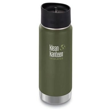 Klean Kanteen Insulated Wide Bottle with Cafe Cap 2.0 Fresh Pine