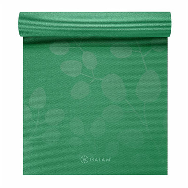 Gaiam Printed Premium Yoga Mat 5 mm Green Spring