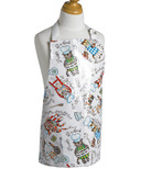 Now Designs Laminated Apron for Kids in Cat Pattern