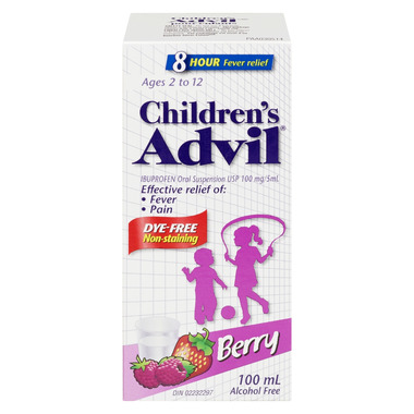 Advil Children\'s Suspension Dye Free Berry