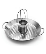 Outset Stainless Steel 2-in-1 Roasting Wok
