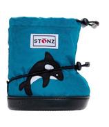 Stonz Teal Orca Toddler Booties