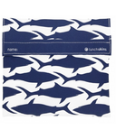 Lunchskins Navy Shark Sandwich Bag