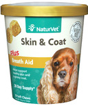 Naturvet Skin & Coat Plus Breath Aid Soft Chews
