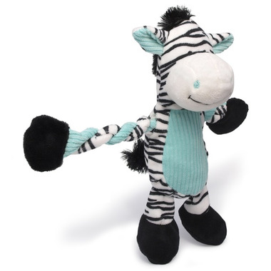 Charming Pet Products Pulleez Zebra Dog Toy