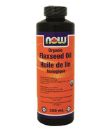 NOW Foods Organic Flaxseed Oil