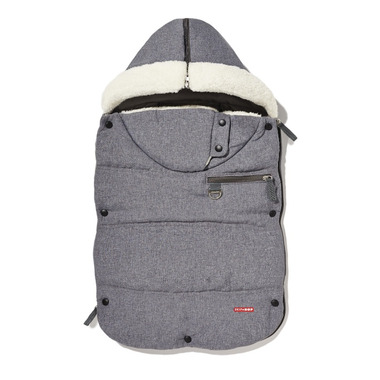 Skip Hop Heather Grey Stroll & Go Three Season Footmuff Infant
