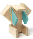 Tegu Magnetic Wooden Block Set Robo