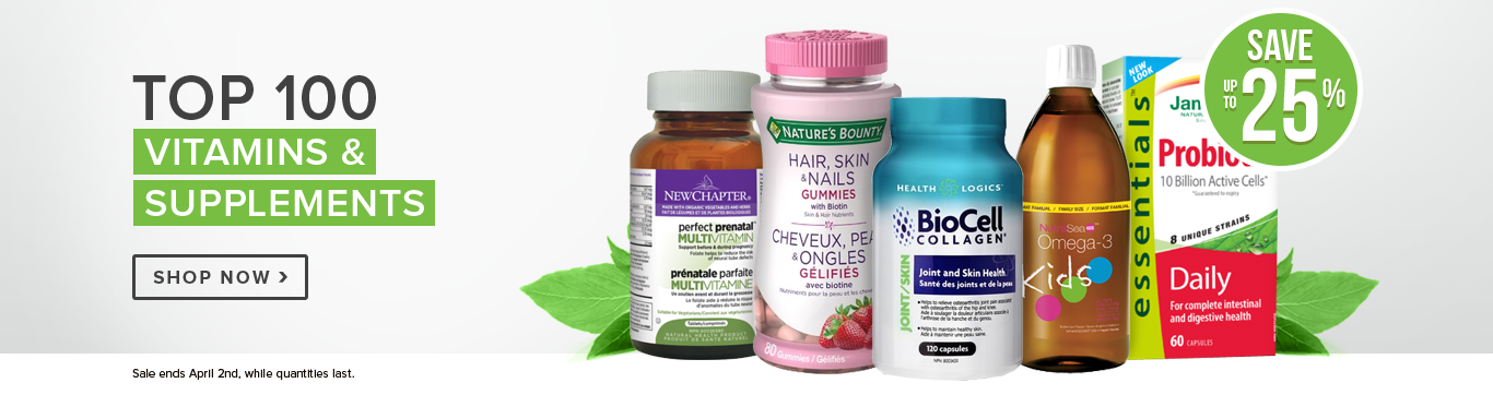 Save up to 25% on Top 100 Vitamins