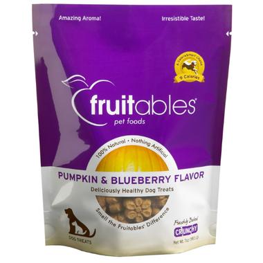 Fruitables Crunch Dog Treats Pumpkin & Blueberry