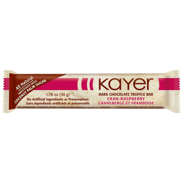 Kayer Cranberry Raspberry Dark Chocolate Truffle Bar