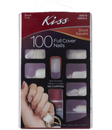 Kiss Full Cover Artificial Nails - Short Square