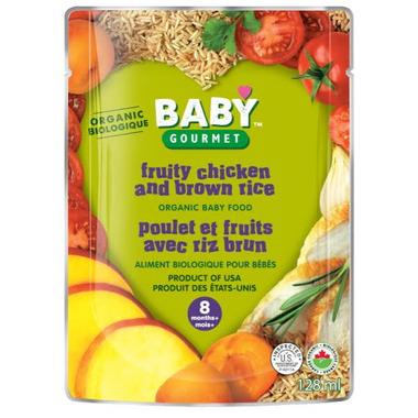 Baby Gourmet Fruity Chicken & Brown Rice Baby Food