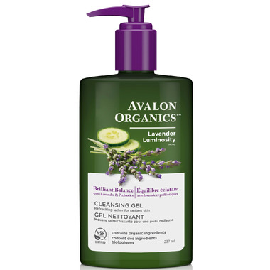 Avalon Organics Brilliant Balance Lavender Luminosity Cleansing Gel