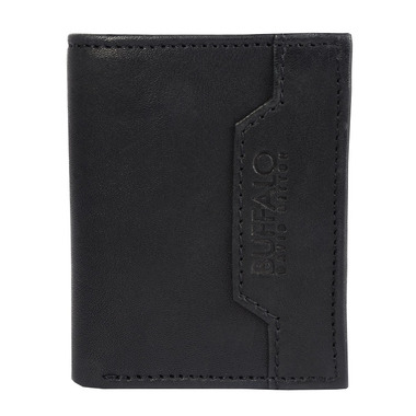 Buffalo David Bitton Steve Bi Fold Card Case With Coin in Black