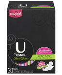 U by Kotex CleanWear Ultra Thin Heavy Flow Pads with Wings
