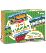 Melissa & Doug Trains Linking Floor Puzzle