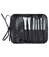 Danielle Creations 7 Piece Roll Brush Set Black