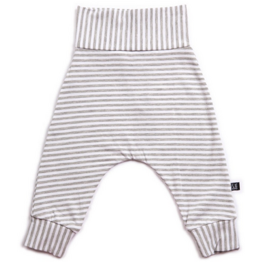 Vonbon Harem Pants Grey Stripe