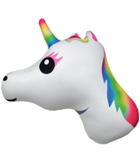 Iscream Unicorn Emoji Microbead Pillow