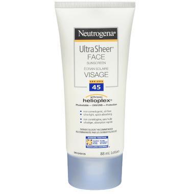Neutrogena Ultra Sheer Face Sunscreen