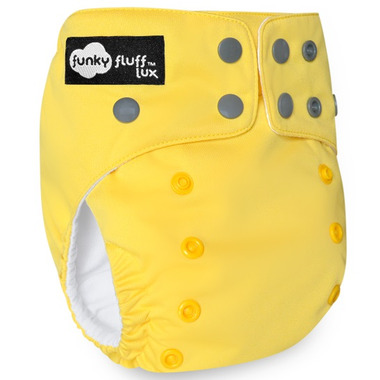 Funky Fluff Bamboo Diaper System Yellow Submarine