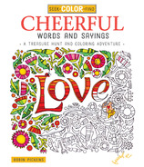 Design Originals Seek, Colour, Find Cheerful Words and Sayings