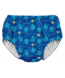 iPlay Snap Reusable Absorbent Swimsuit Diaper Navy Octopus