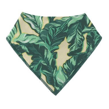 ALWAYSxALWAYS Palm Leaf Baby Bib