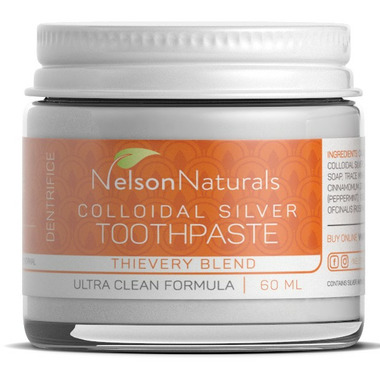 Nelson Naturals Colloidal Silver Remineralizing Toothpaste Thievery Blend