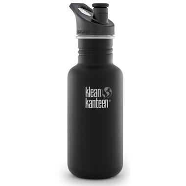 Klean Kanteen Classic Water Bottle with Sport Cap Shale Black Matte