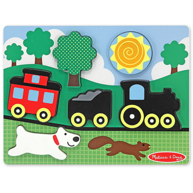 Melissa & Doug Chunky Scene Red Caboose Puzzle