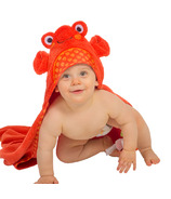 Zoocchini Baby Hooded Towel Charlie The Crab