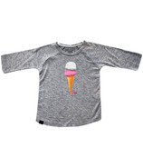 L&P Apparel Baseball Style Shirt Grey Ice Cream
