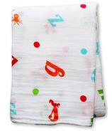 Lulujo Baby Muslin Cotton Swaddling Blanket Alphabet